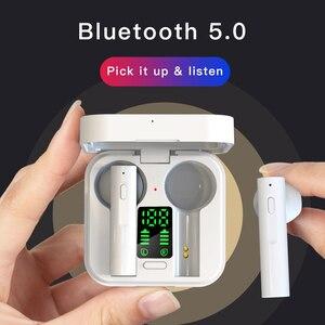 Image 4 - Original AIR6 PLUS earphone Solar Charging TWS Bluetooth headphone LED display mini Ear buds bluetooth 5.0 headset cell phones
