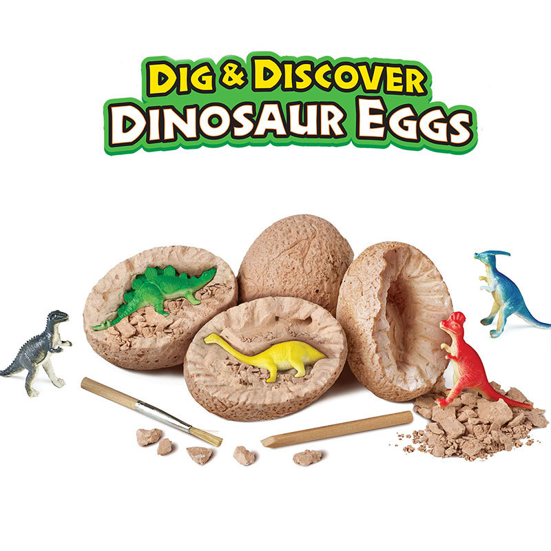 1PCS DIY <font><b>Dinosaur</b></font> <font><b>Egg</b></font> <font><b>Toys</b></font> Novelty Digging Fossils Excavation <font><b>Toys</b></font> Kids Educational Learning Funny Party Gifts <font><b>Toy</b></font> for Girl Boy image