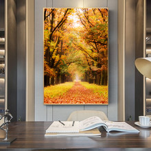 De Hoge Veluwe National Park of Netherlands Autumn Leaves Poster Autumn Canvas Painting Prints Wall Art Pictures for Home Decor