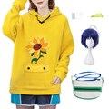 Костюм для косплея Ohto Ai из аниме «чудо-яйцо», пуловер с капюшоном, желтый свитшот, шорты, сумочка с париком, носки