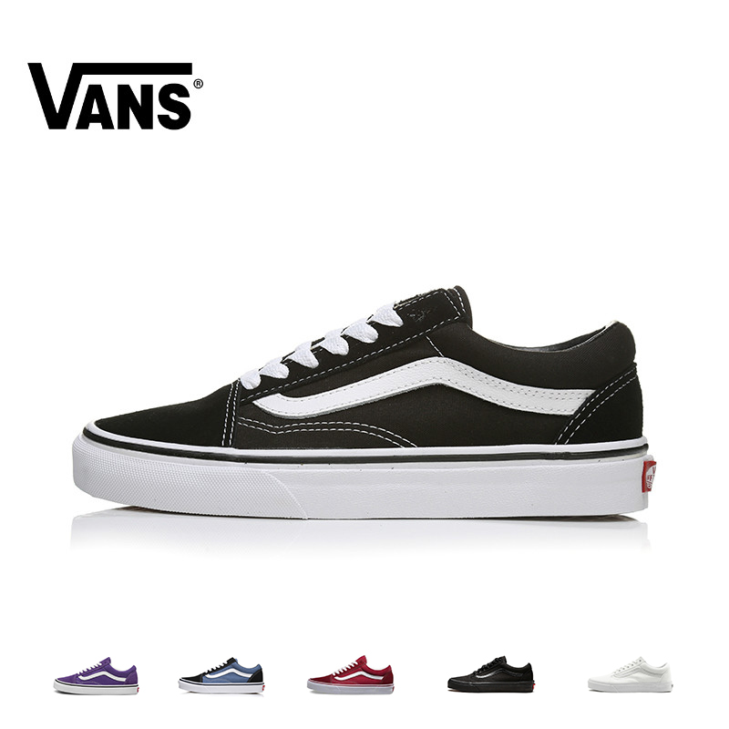 VANS OLD SKOOL Men And Women's Shoes Skateboard Shoes Multicolor Outdoor Sports Classic Leisure Series VN000D3HY28