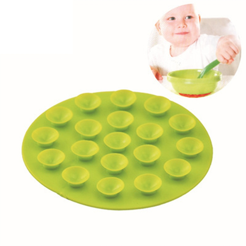 Baby Feeding  Anti Slip Placemat Double Sided Suction Cups Sucker Mat  Feeding Bowl Cup Pads Tool