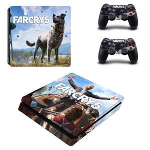 Image 3 - FARCRY Weit Cry 5 PS4 Dünne Aufkleber Play station 4 Haut Aufkleber Decals Für PlayStation 4 PS4 Slim Konsole & controller