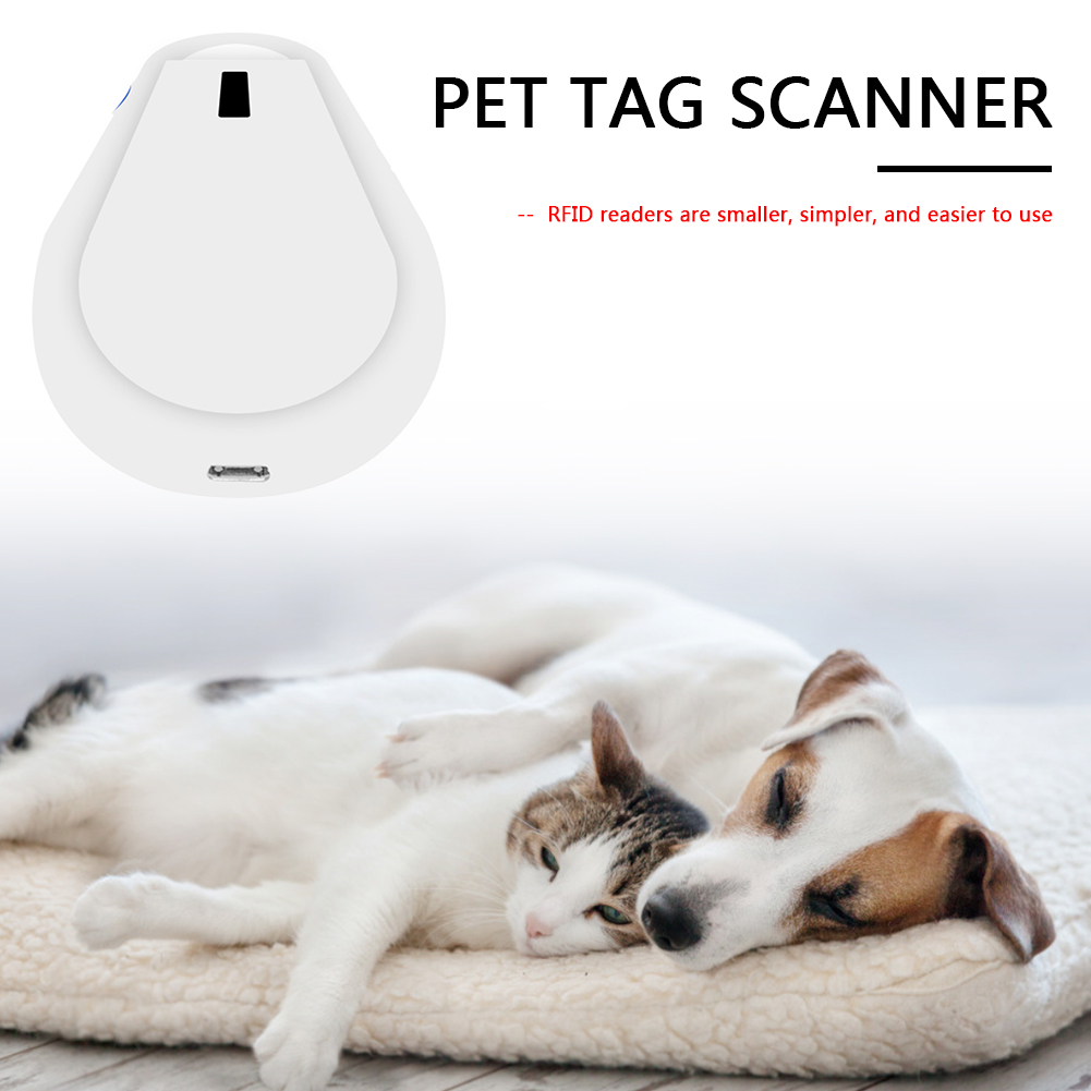 Rechargeable Pet ID Microchip Scanner Portable Handy Dog Cat Animal RFID Reader Pet ID Reader Animal Chip Scanner