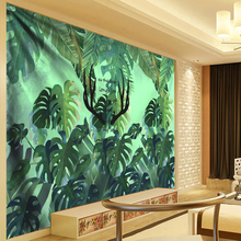 Tropical Plant Tapestry Polyester Cloth Wall Hanging Green Leaves Landscape гобелен Living Room Farmhouse Boho Dorm Decor
