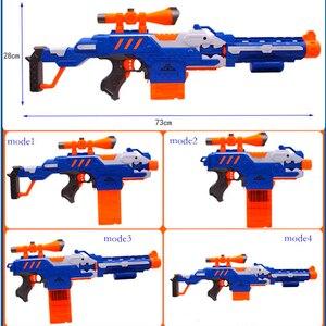 Image 4 - Elektroniczny Submachine pistolet zabawka garnitur dla NERF miękki pocisk Gun Rival Elite Series zabawy na świeżym powietrzu i sportowe zabawki prezent dla dzieci chłopców prezent