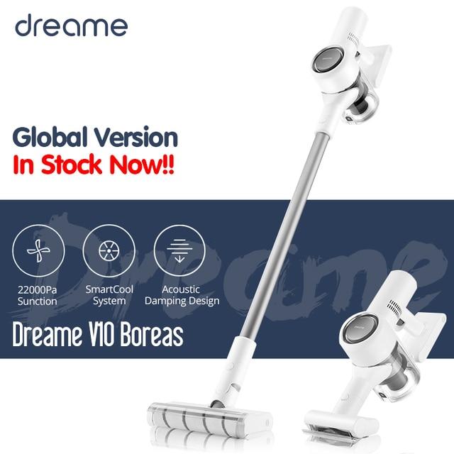Dreame V10 Boreas שואב אבק כף יד נייד אלחוטי אלחוטי שדרוג של V9 V9P לאסוף שיער חיית מחמד עבור בית