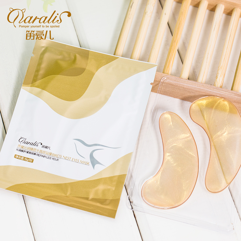 Daralis 4Pcs=2Pair 24K Gold Crystal Collagen Eye Mask Eyes Patches Dark Circles Remove Bags Anti-Aging Wrinkle For Eye Skin Care