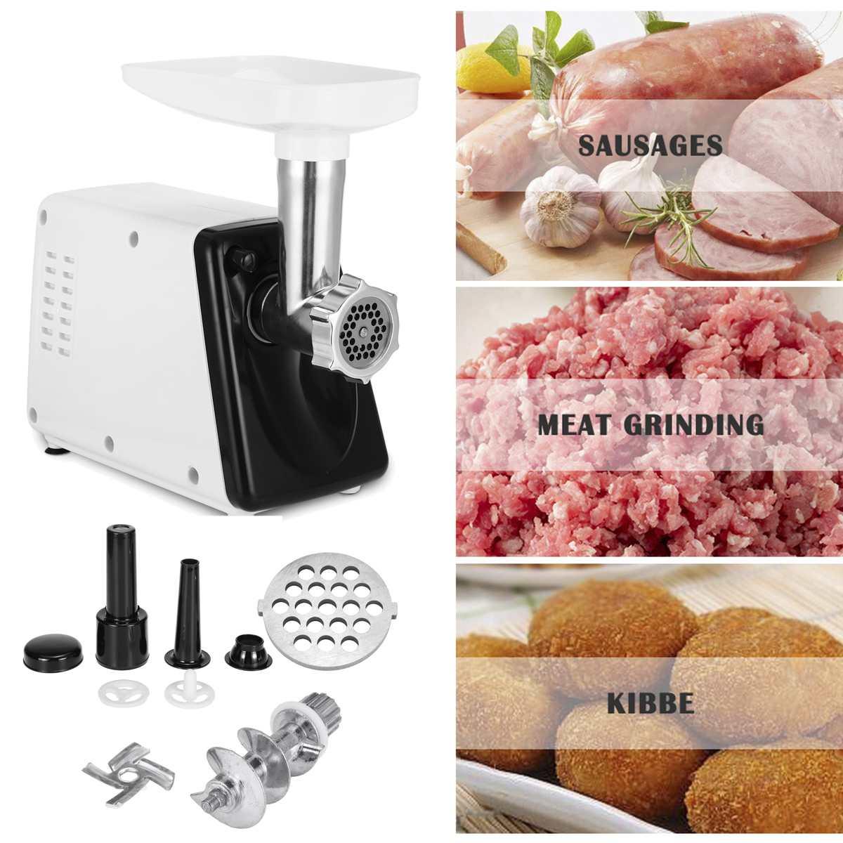 220V Electric Blender Mixer Meat Grinder Stainless Steel For Kitchen Meat Mincer Multifunction Food Chopper Sausage Meat Grinder-3