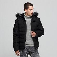 купить 2019 Fashion Winter Jackets Men Hooded Coats Fur Collar British Thick Warm Parka Men Down Jackets High Quality Casual Outwear дешево