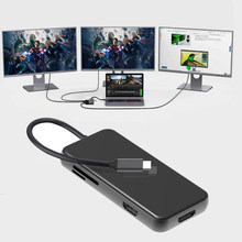 Type C Docking Station MST Dual Screen Display 4K 2x HDMI Compatible VGA USB 3.0 HUB PD Adapter For Macbook Laptop Phone Huawei