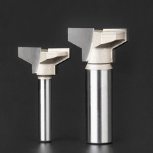 цена на 1/4 1/2 Shank Drawer lock bit Woodworking Cutter Router Bits for wood Drawer Knife T Type milling cutter