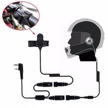 Motorcycle Full Face Helmet Headset Earpiece for Two Way Radio Baofeng Walkie Talkie UV-5R UV-5RA Plus BF-888S GT-3 GT-3TP Mark