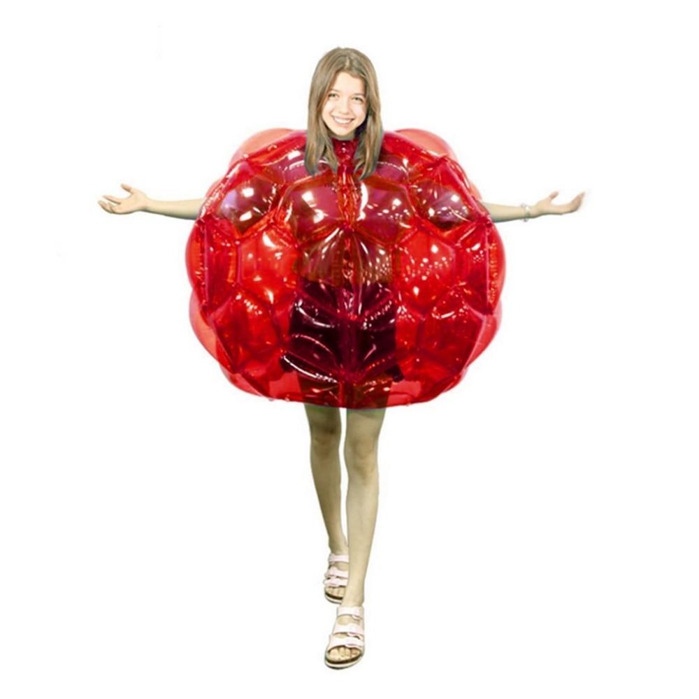 PTOTOP детский надувной тела Мячи zorb бильярдные футбольные костюмы ПВХ подвижных игр на свежем воздухе забавные мяч для бампера кузова игрушка для детей 60*60*55 см