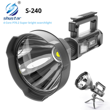 LED Portable Searchlight Mountable-Bracket Expeditions with P70.2-Lamp Bead for Etc.
