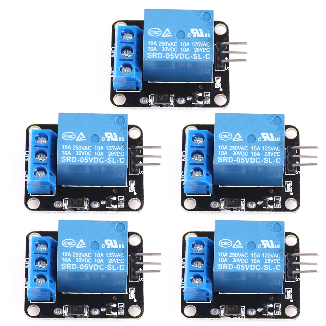 5PCS 5V Relay 1 Channel Module For Arduino