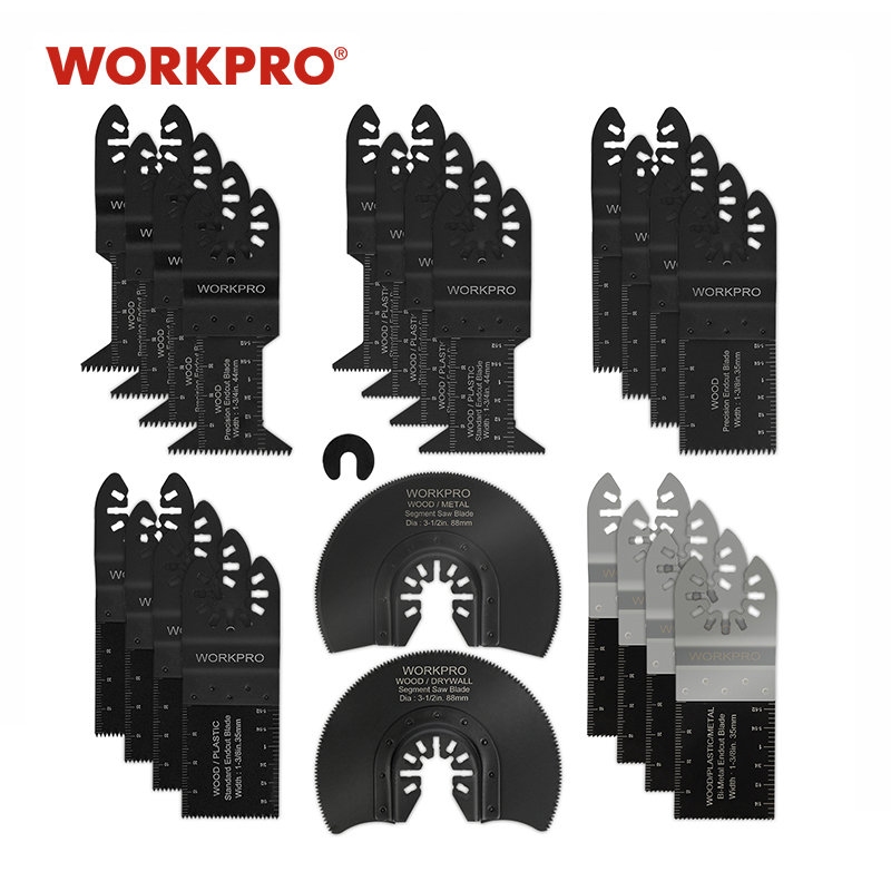 WORKPRO 23PC Saw Blades Multi Tool Oscillating Saw Blades For Dremel Bosch Milwaukee Quick Release Saw Blades For Metal/wood