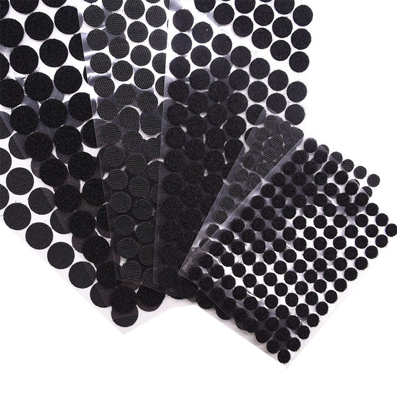 VELCRO 13M COINS BLACK//WHITE FASTENINGS HOOK AND LOOP STICKY DOTS//