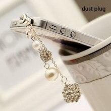 Earphone-Plug Jack-Stopper Dust-Plug Diamond Samsung for 6/5s HTC Bling Universal Sony