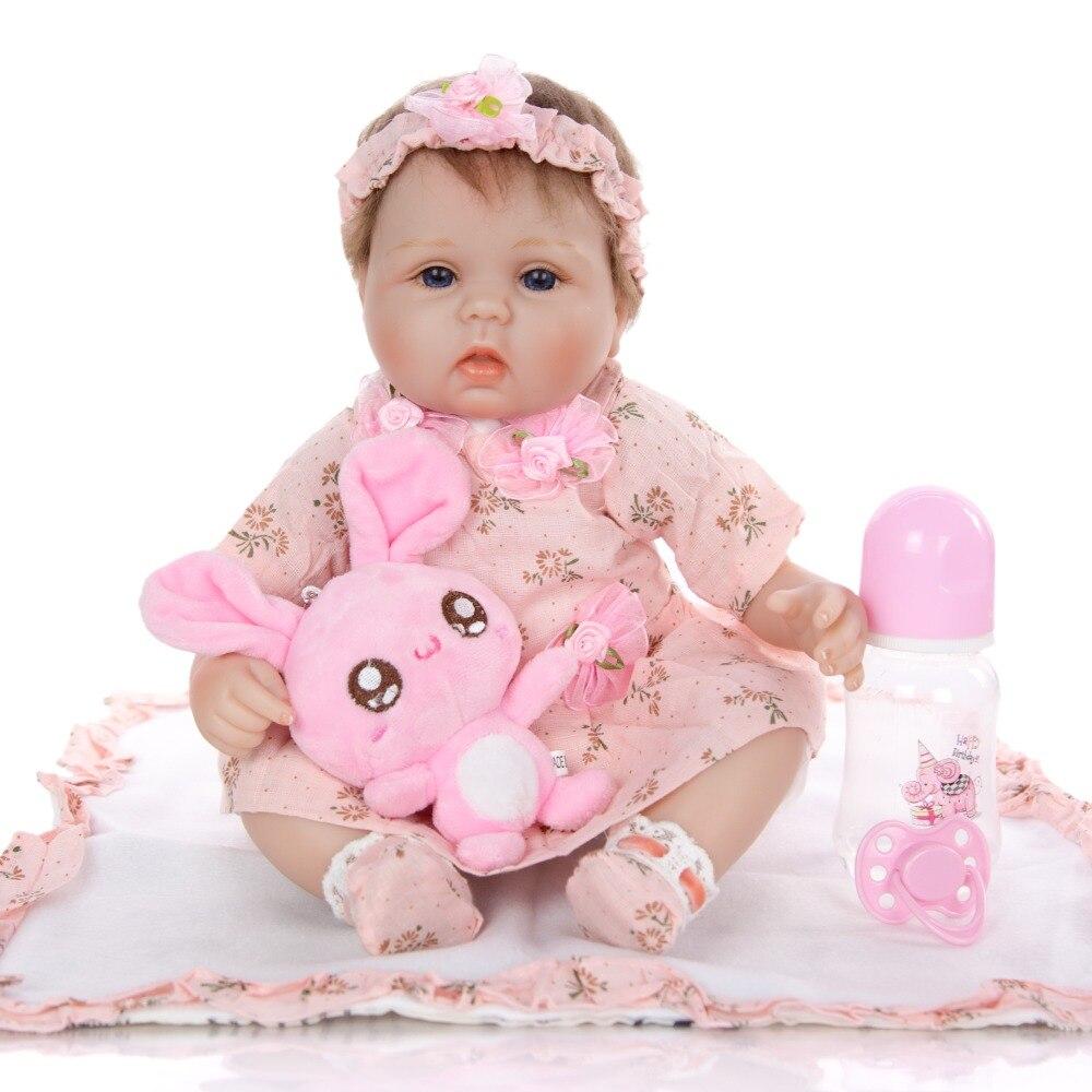 US Newborn Dolls  NPK Reborn Baby Real Looking Silicone/& cloth body  42CM GIft