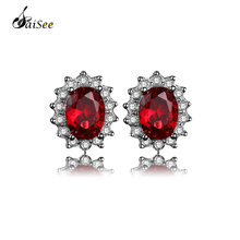 SaiSee 100% Real 925 Sterling Silver AAA Cubic Zirconia Stone Stud Earrings for Women Wedding Jewelry Brincos Dropshipping E-110 недорого
