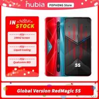 Nubia-teléfono inteligente Red Magic 5S, versión Global, para videojuegos, 6,65 pulgadas, 144Hz, AMOLED, Snapdragon 865, RedMagic 5S, cámara trasera de 64MP, Wi-Fi6