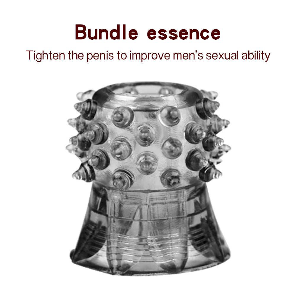 수탉 반지 딕 글래스 페니스 섹스 토이 여자 커플 지연 사정 아날 엉덩이 플러그 페니스 링 익스텐더 콘돔 섹스 제품