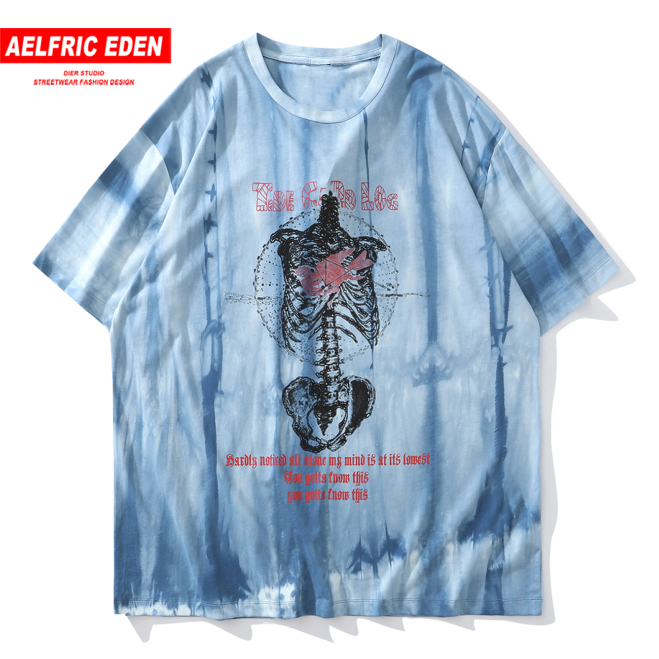 Aelfric Eden Tie Dye <font><b>Punk</b></font> <font><b>T</b></font> <font><b>Shirt</b></font> <font><b>Men</b></font> 2020 Summer Hip Hop Streetwear Cotton Loose Oversized Tshirts Fashion Short Sleeve Hipster image