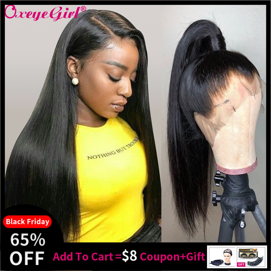 Glueless 360 Lace Frontal Wig Pre Plucked With Baby Hair Remy Brazilian Hair Straight Lace Front Human Hair Wigs Oxeye Girl Wigs