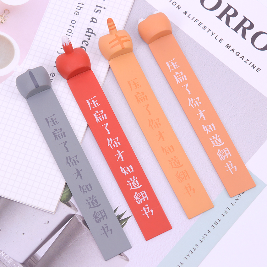 1PC Lovely Cartoon Dog Hamster Fox Ass Bookmarks Novelty Book Reading Item Creative Gift For Kids Children Stationery