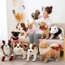 Плюшевая игрушка-собака, мягкая игрушка хаунд, золотистый ретривер, чихуахуа, бульдог, шар-пей, померанский питомец, кукла для собак, 30-60 см