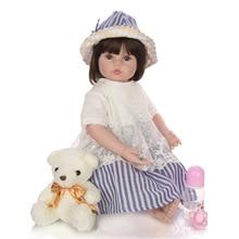 KEIUMI прелестная силиконовая кукла-реборн 60 см, Очаровательная кукла-реборн для маленьких девочек, игрушки для детей, рождественский подарок, реалистичный реборн
