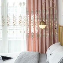 Шторы в европейском стиле для гостиной столовой спальни шениль