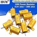 1 шт. RX24 10 Вт алюминиевый мощный металлический корпус чехол проволочный резистор 0,01 ~ 30K 1 2 3 5 6 8 10 20 100 150 200 300 500 1K 10K Ом