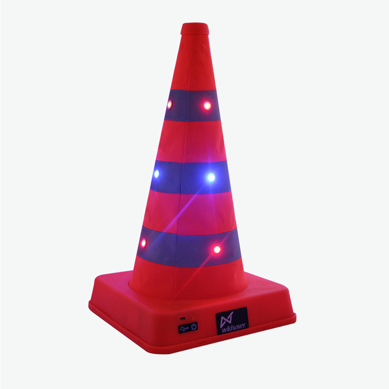 Manufacturers Direct Selling 41 Cm Safe Parking Telescopic Road Cone Road Jing Shi Zhui Emergency Reflective Shining Roadblocks