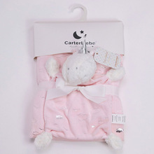 76 * 100cm Baby Cute Hot Silver Printing Blanket Small Animal Soothing Toy Four Seasons Available Crystal Velvet Blanket