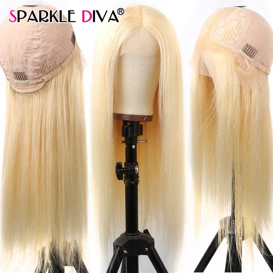 Perruque Lace Front Wig brésilienne Remy naturelle Deep Part | Blond 613, 13x6, perruque Lace Transparent, densité 150 613