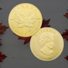 Challenge Coins Collect Coin-Commemorative Canada Gold Maple Token Art-Souvenir Gift