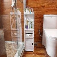 Bathroom side cabinet waterproof toilet side cabinet bathroom livingroom supplies storage rack floor standing locker furniture