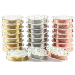 0.2-1mm gümüş/altın/gül altın bakır tel Bilezik Kolye DIY Solmaz Boncuk Tel Takı kordon Dize Zanaat Yapımı için