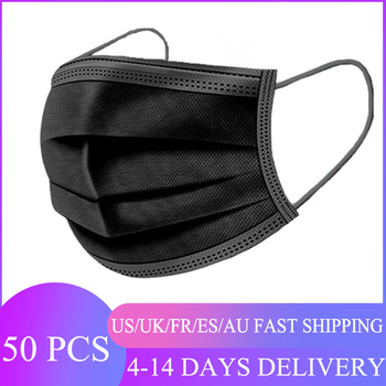 50pcs Multicolor Anti Dust Mask Disposable Non wove 3 Layer Ply Filter Mask mouth Face mask Breathable Earloops Masks