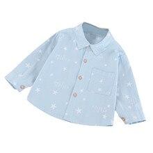 Blouse Shirt Tops Long-Sleeve Toddler Baby-Boys Cotton Tee Fashion Letter Print Gentleman