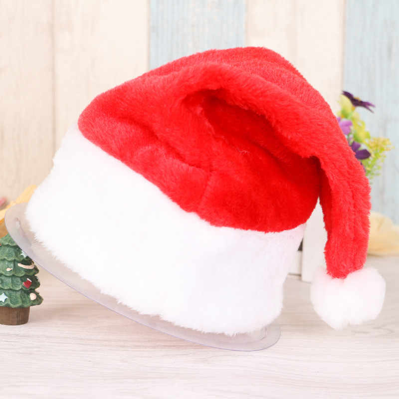 Children/Adult Merry Christmas Party Santa Hat Red And White Cap for Santa Claus Costume christmas decor 2019 santa's hats T2