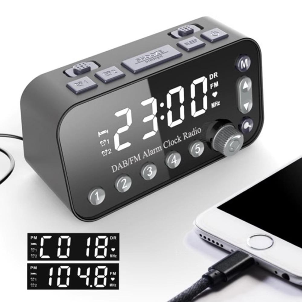 Dual Usb Port Digital Alarm Clock Dab