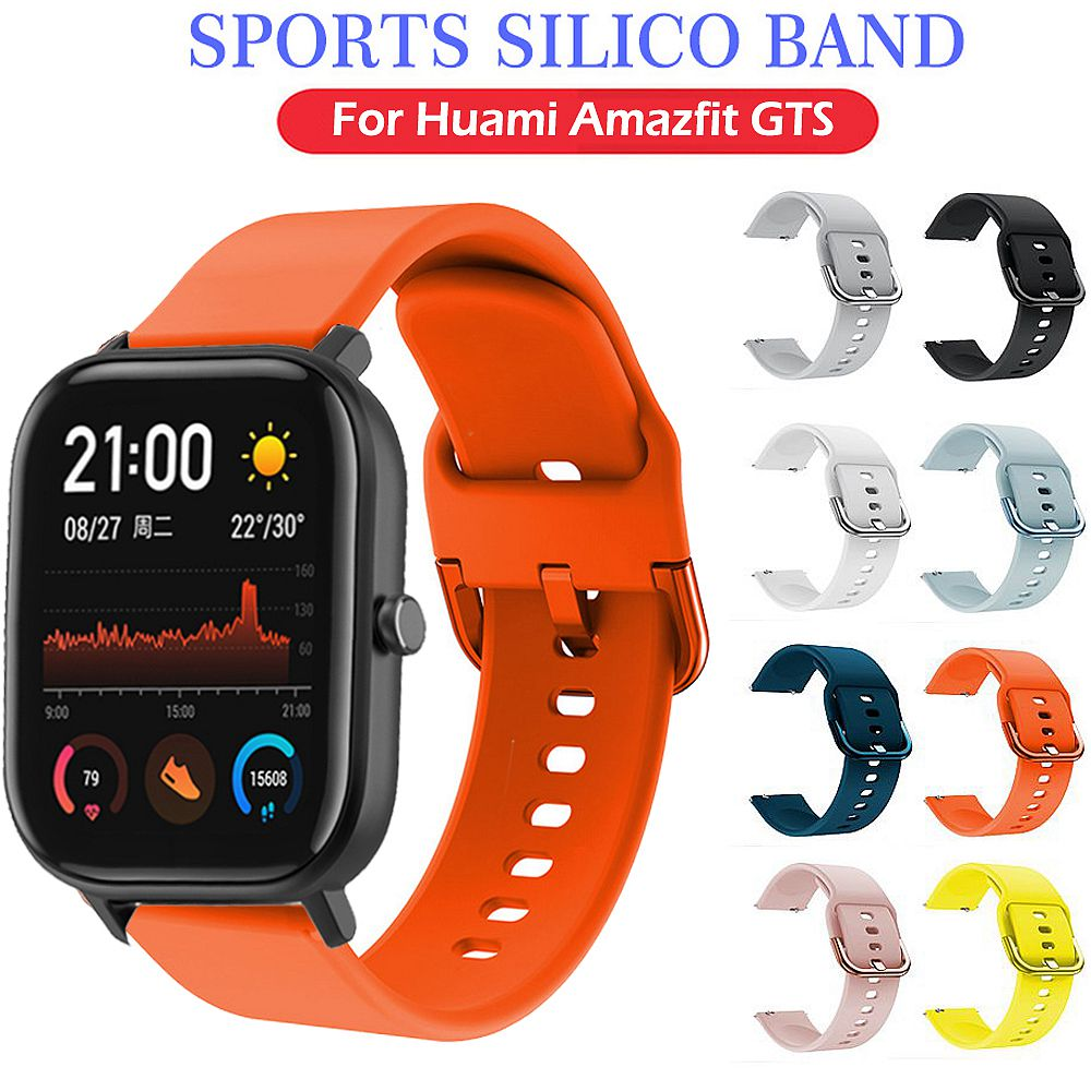 Silicone Watch Strap For Amazfit GTS Samsung Galaxy Active  Galaxy 42mm Band For Samsung Galaxy Watch Active 20mm Band Sport
