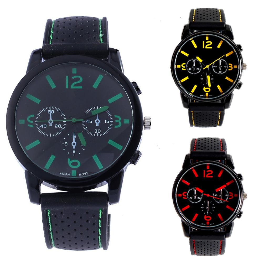 Fashion Men Faux Leather Strap Round Dial Racing Sport Quartz Analog Wrist Watch Nice Gift For Yourself Female Friends Or Family