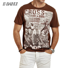 E BAIHUI brand Summer Men Cotton Clothing Dsq T shirtS casual T Shirt Fitness tops Tees