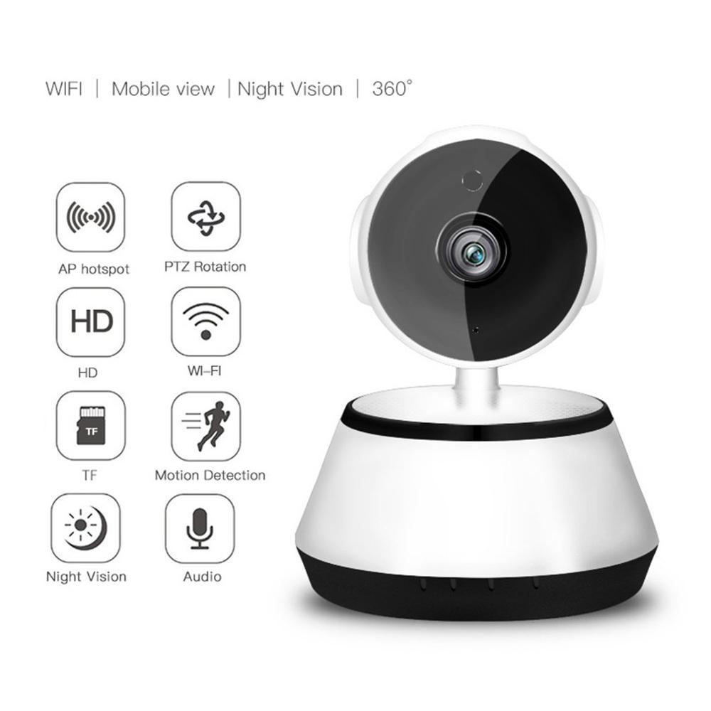 Home Security V380 2.1mm Lens 720P Wireless Mini WIFI Night Vision Smart IP Camera Surveillance Camera Monitor