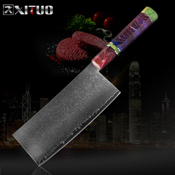 XITUO Damascus Steel VG10 Chef Knife Professional Chinese Sharp Chopper Slices Cleaver Utility Santoku Kitchen Cooking Tools NEW