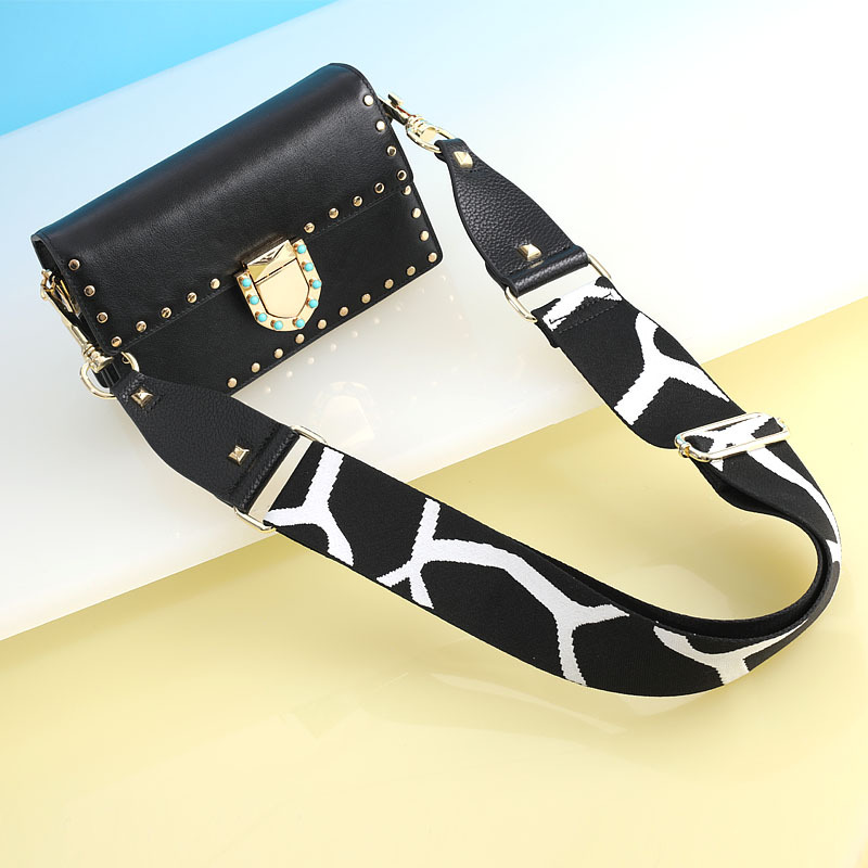 Adjustable Shoulder Straps Leopard Print Strap Leather Wide Shoulder Bag Accessories For Women Replacement Strap Bag Belt
